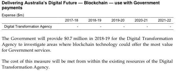 Budget 2018 Blockchain
