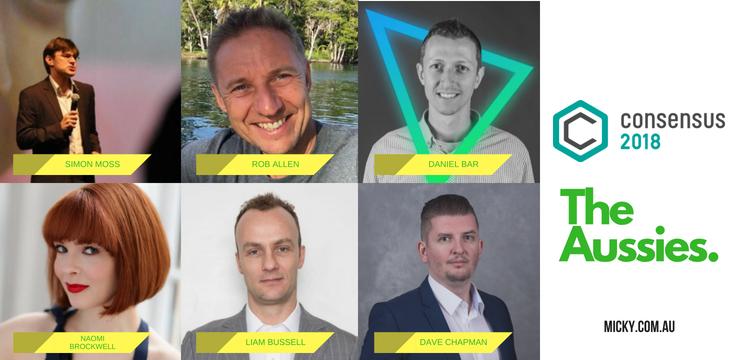 The Australians speaking at Consensus 2018
