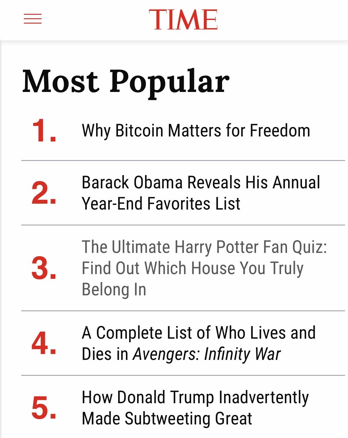 Time Magazine Bitcoin