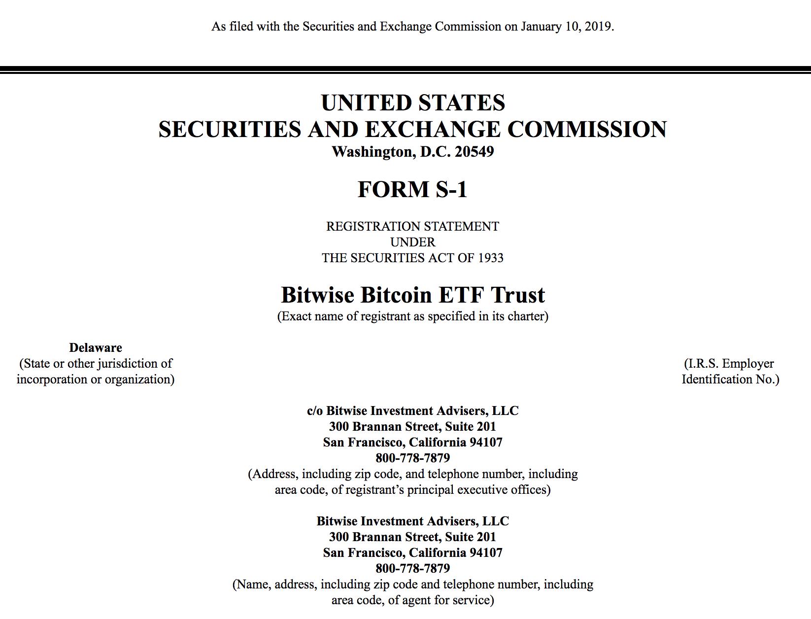 Bitcoin ETF 2019