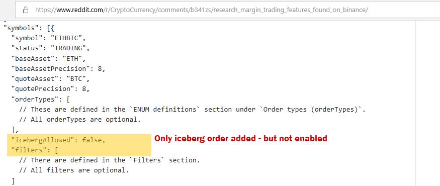 Original Binance API code