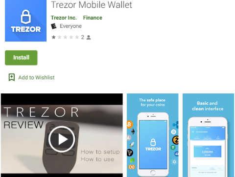 Fake Trezor app on Google Play