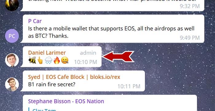 Larimer's first emoji clue. Possible translation: B1 Steam (Steem) Secret?