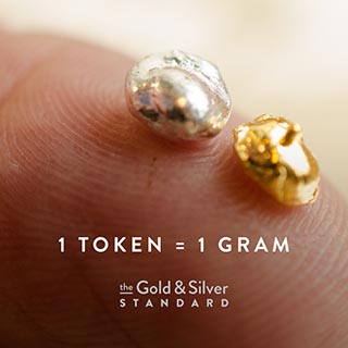 Each AUS (Gold Standard) and AGS (Silver Standard) token equals one gram of each metal with their price pegged to the spot price of each metal.