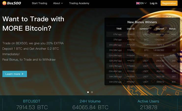 Bex500 1000 BTC bonus giveaway