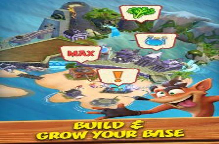 Facebook ad for 'Crash Bandicoot' mobile