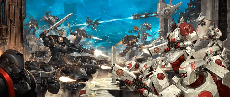 Warhammer Combat Cards battle scene