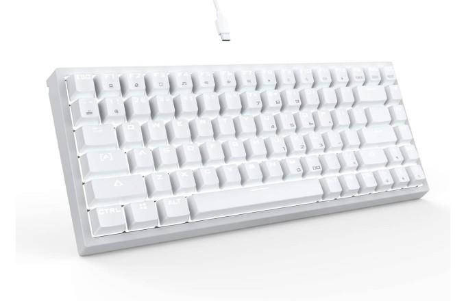 Drevo all white gaming keyboard