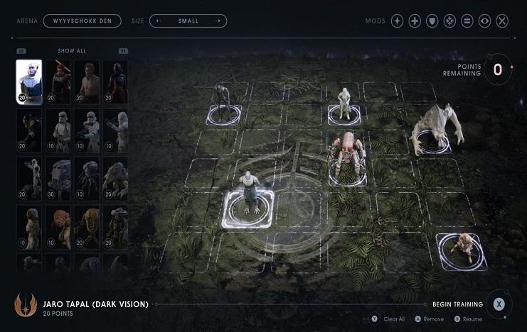 The Battle Grid mode in Jedi Fallen Order