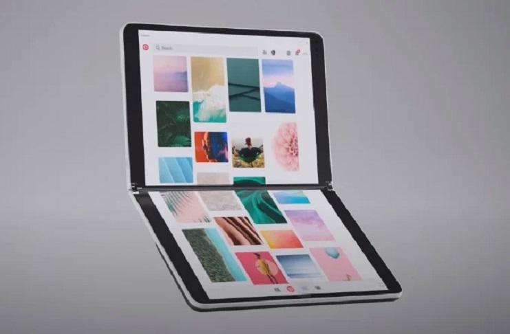 Microsoft Surface Neo running Windows 10X