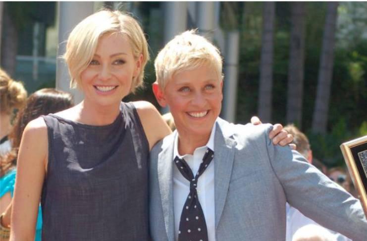 Comedian treats Portia de Rossi like gold