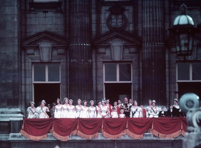 The coronation of Queen Elizabeth II on 1953
