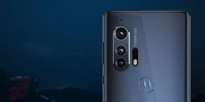 Motorola Edge Plus triple camera setup