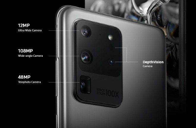 multiple smartphone camera setups include a main camera, ultrawide, telephoto, and a depth sensor