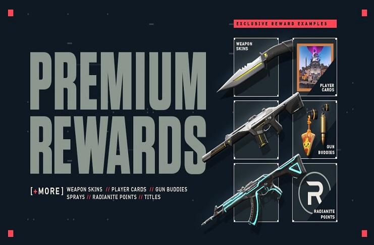 Premium Rewards for Valorant Battleplass