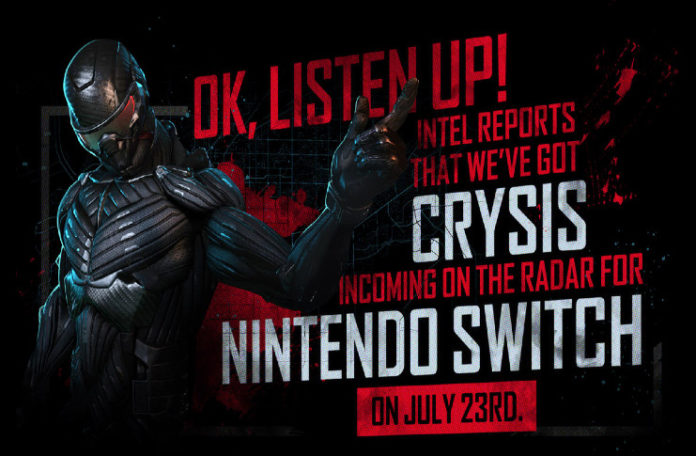 'Crysis Remastered' lands on the Nintendo Switch later this month