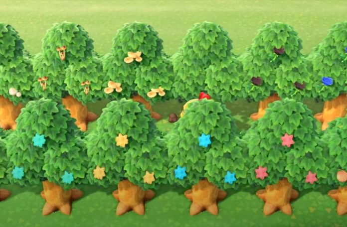Hacked trees in Animal Crossing: New Horizons