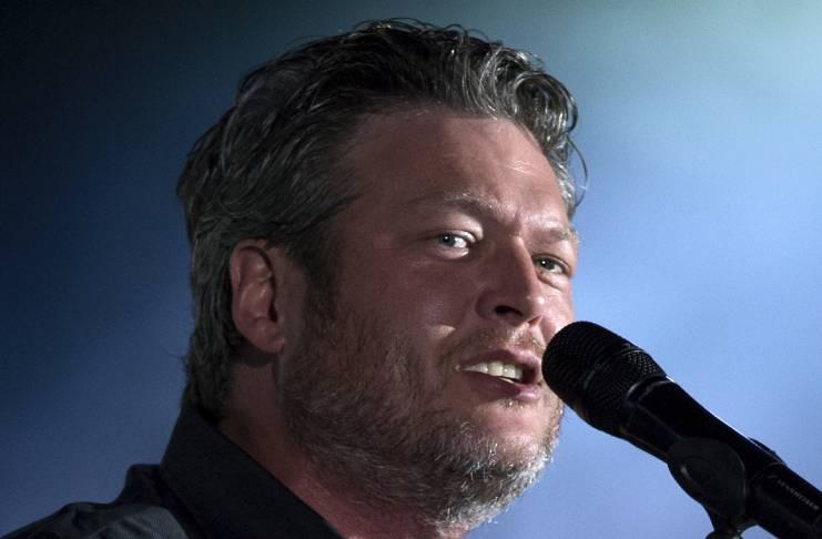 The singer makes fun of Blake Shelton's wedding